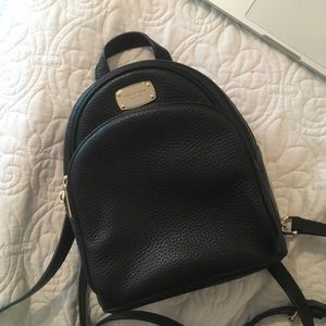 MICHAEL KORS Abbey Xs Black Leather Backpack